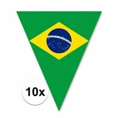 10x braziliaanse vlaggenlijn voor buiten 5 m