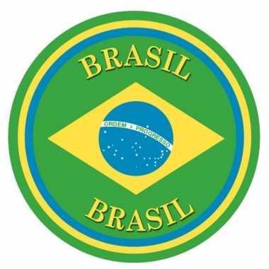 Braziliaanse  Brazilie vlag print bierviltjes