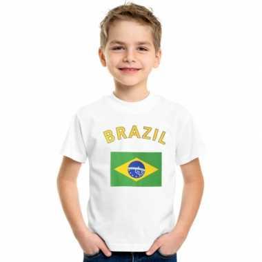 Braziliaanse  Kinder t-shirts van vlag Brazilie