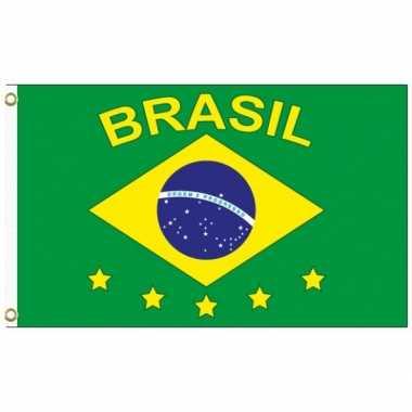 Braziliaanse  Landen supporter vlag Brazilie