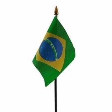 Braziliaanse landenvlag op stokje