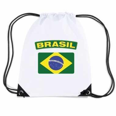Braziliaanse sporttas met trekkoord vlag brazilie