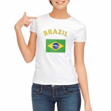 Braziliaanse  T-shirt met Brazilische vlag print voor dames