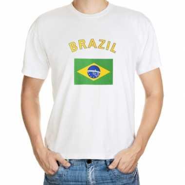 Braziliaanse  T-shirts van vlag Brazilie