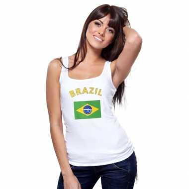 Braziliaanse  Tanktop met Brasiliaanse vlag print voor dames