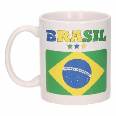 Braziliaanse vlag koffiebeker