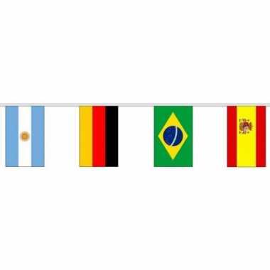 Braziliaanse wereld vlaggenlijn 10 meter