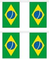 2x luxe braziliaanse vlaggenlijnen 3 meter